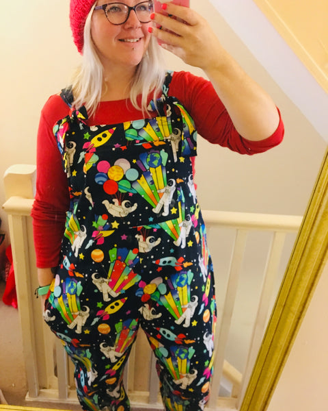 Mama Medley party planet dungarees