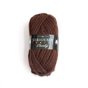 Chocolate seriously chunky yarn