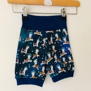 Space llama cycling shorts
