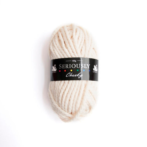 Cream seriously chunky yarn