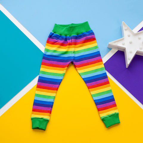 Rainbow stripe baby / children's leggings trousers