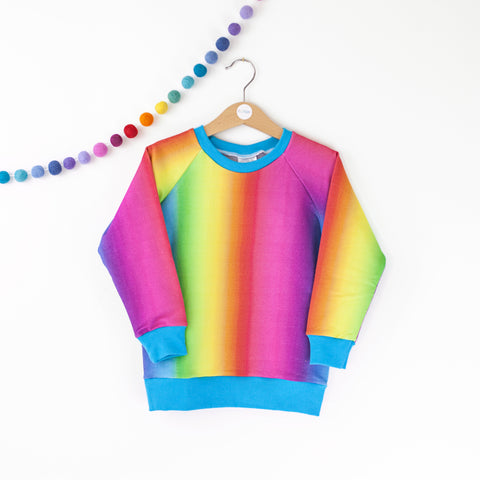 Rainbow fade baby / children's sweater