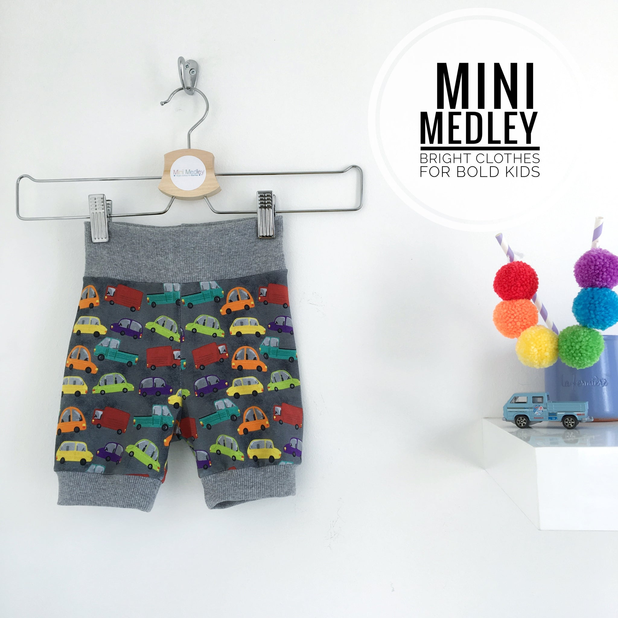 Bright cars babies / children's shorts