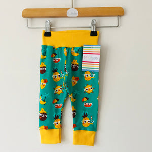 3-6 months Summer fruits organic baby / children's leggings