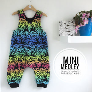 Winter rainbow baby / children's harem dungarees