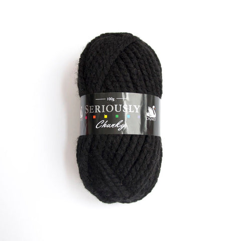 Black seriously chunky yarn