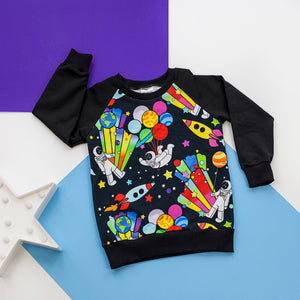Party planet baby / children's sweater jumper