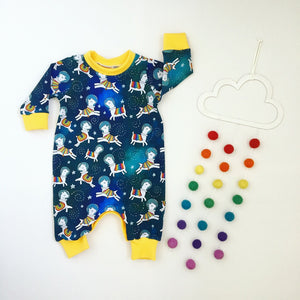 Space llamas babies / children's romper