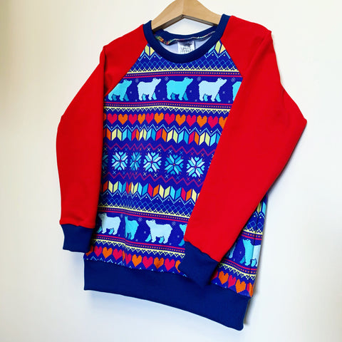 Winter bear fair isle sweater