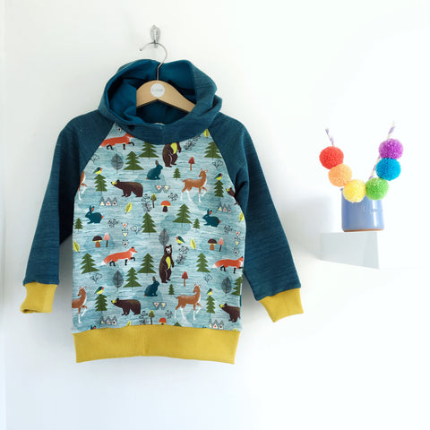 Winter woodland baby / children's hoodie