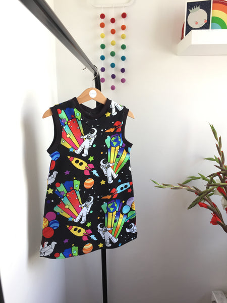 Party planet A-Line dress with 3 sleeve options