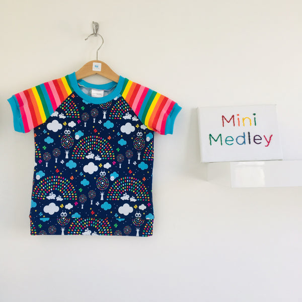 Swallows & rainbows Mini Medley exclusive print baby / children's outfit