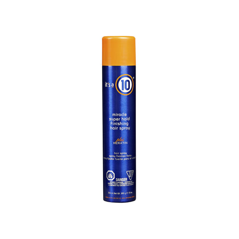 It's a 10 - Miracle Super Hold Finish Hair Spray Plus Keratin