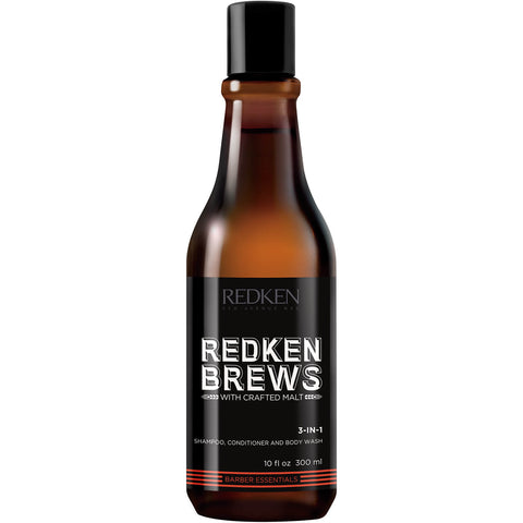 Redken - Brews 3-in-1 Shampoo, Conditioner & Body Wash