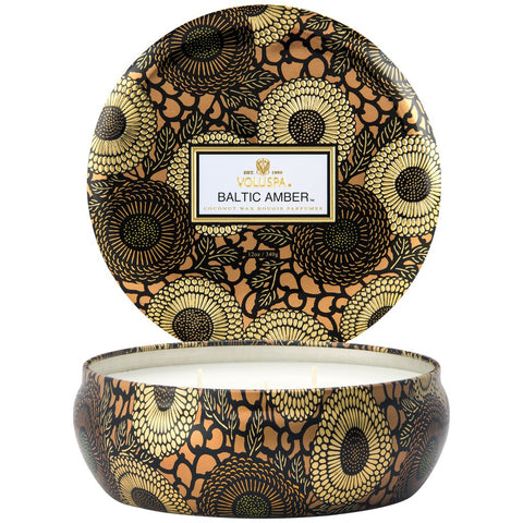 Voluspa - Japonica Collection - 3 Wick Candle in Decorative Tin