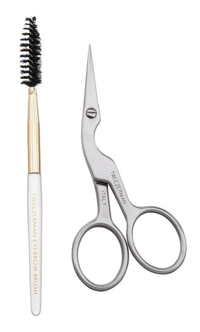 Tweezerman - Brow Shaping Scissors and Brush