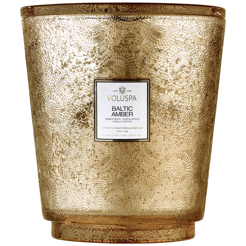 Voluspa - Japonica Collection - Hearth 5 Wick Glass Candle