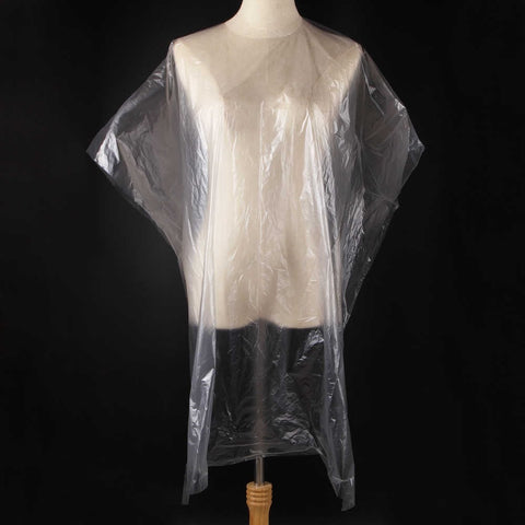 Disposable Plastic Cape White