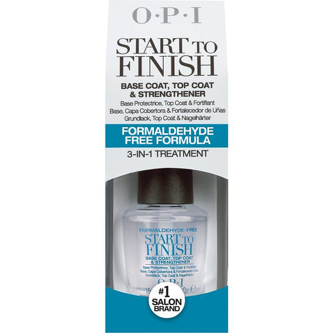 OPI - Start To Finish - Formaldehyde-Free - Base Coat, Top Coat & Strengthener