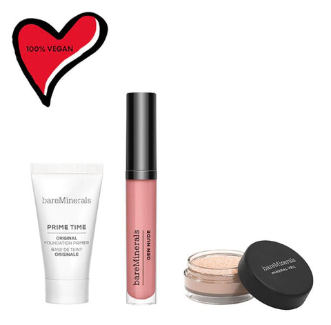 bareMinerals - Primer, Finishing Powder & Lip Lacquer Trio