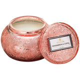 Voluspa - Japonica Collection - Chawan Bowl 2 Wick Embossed Glass Candle