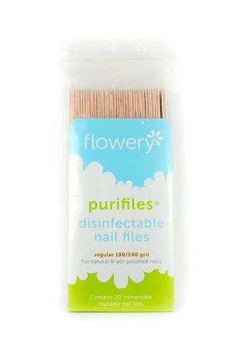 Flowery - Purifiles Sanitizable Nail File 180/240 grit - 2110