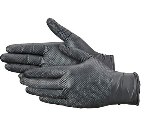 Product Club - jetBlack Nitrile Textured Color Gloves - 1 Pair