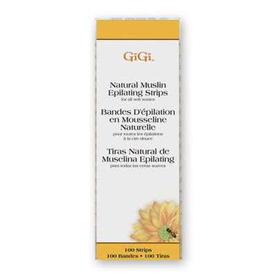 GiGi - Natural Muslin Strips - 100 pack