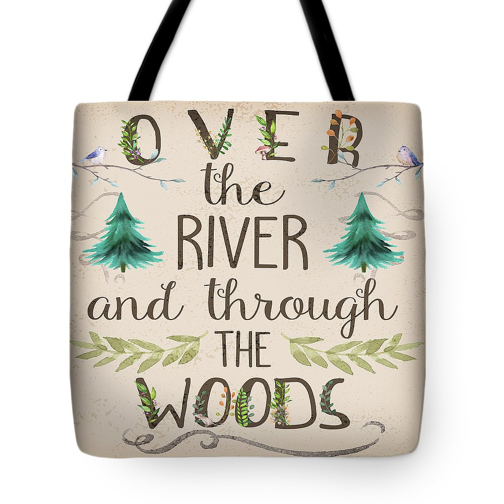 Over The River And Through The Woods Woodland Art - Tote Bag