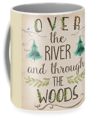 Over The River And Through The Woods Woodland Art Coffee Cup Mug