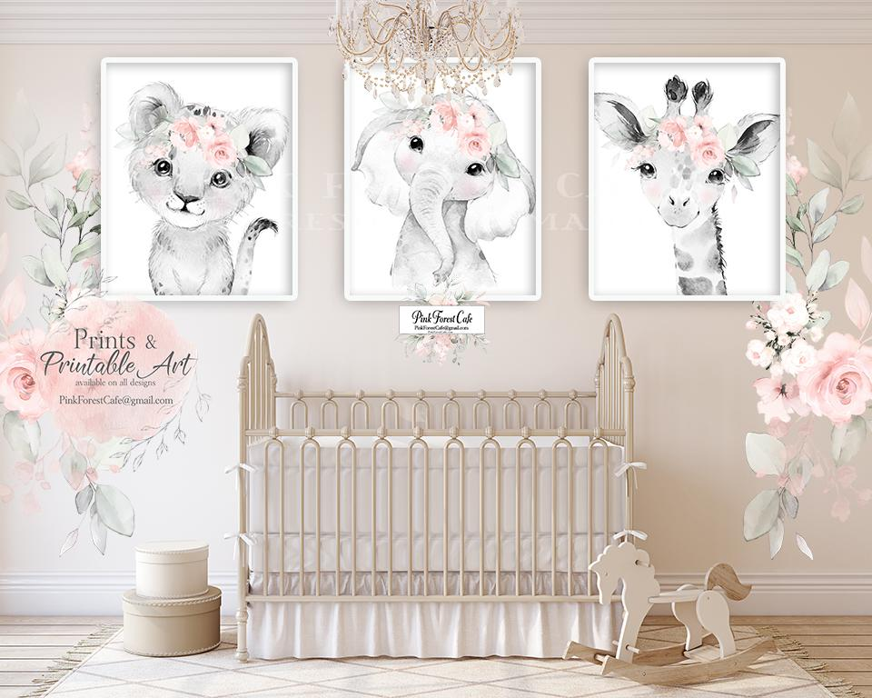 "2 - 40"" Blush Pink Rose Peony Wall Decal Sticker Peonies Rose Floral Flower Decals Sticker Art Boho Decor"