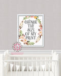 Change The Size Of My Print Any Printable Wall Art Nursery Home Decor Print From Pink Forest Cafe (Single Listing)