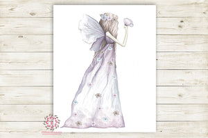 Fairy Nursery Wall Art Print Ethereal Butterfly Wings Printable Watercolor Mystery Fantasy Magical Decor