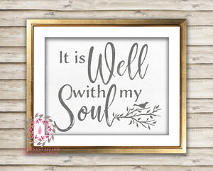 photo about It is Well With My Soul Printable identify It Is Perfectly With My Soul Fowl Printable Print Wall Artwork Household Decor