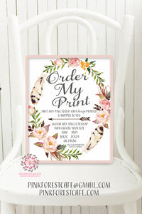 Order My Print - Pink Forest Cafe - 1 Single Design Print - Printed and Shipped