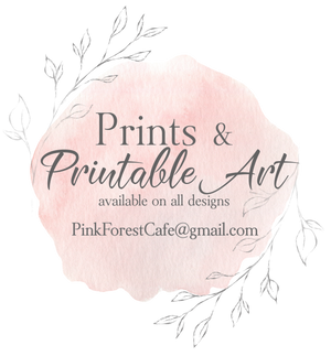 Order My Print - Pink Forest Cafe - 2 (Two) Prints - 2 Designs Printed and Shipped