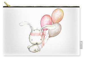 Boho Bunny With Balloons - Carry-All Pouch