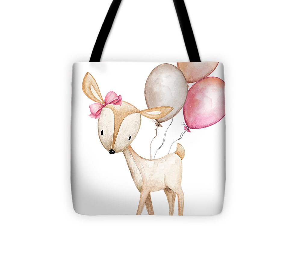 Boho Deer With Balloons - Tote Bag