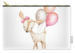 Boho Deer With Balloons - Carry-All Pouch