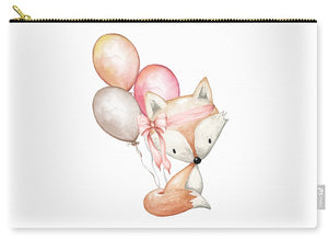 Boho Fox With Balloons - Carry-All Pouch