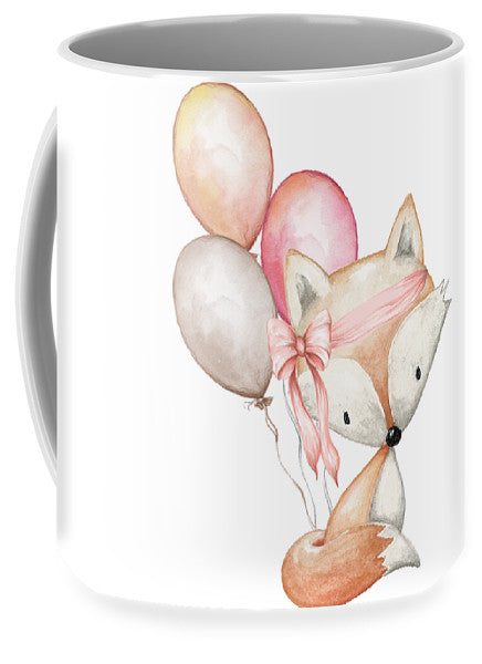 Boho Fox With Balloons - Mug