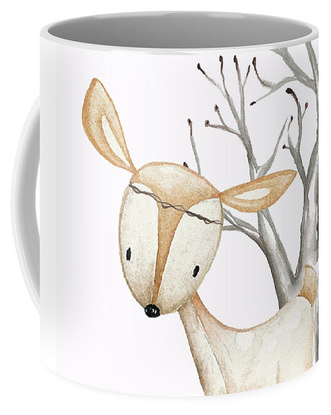 Boho Woodland Baby Nursery Deer Twine Watercolor - Mug