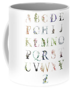 Ethereal Woodland Boho Abc Alphabet Sampler Coffee Cup  Mug