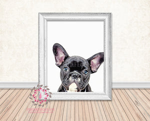 French Bulldog Printable Wall Art Nursery Home Decor Dog Print