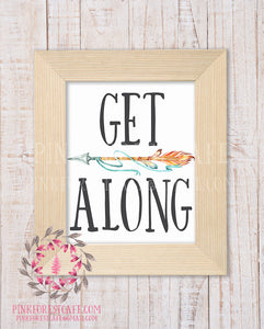 Get Along Boho Arrow Tribal Woodland Nursery Decor Wall Art Printable Print
