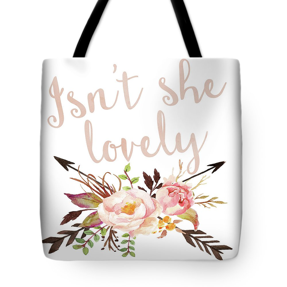 Isn't She Lovely Boho Arrow Watercolor Blush Decor Print - Tote Bag