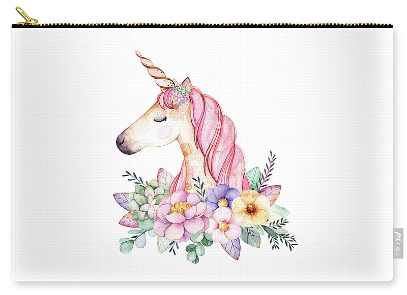 Magical Watercolor Unicorn - Carry-All Pouch