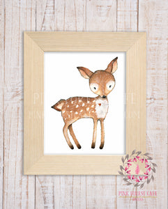 Woodland Deer Fawn Boho Printable Wall Art Print Nursery Decor