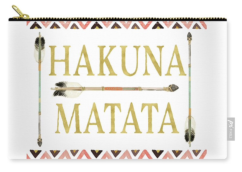 Tribal Arrow Gold Hakuna Matata - Carry-All Pouch