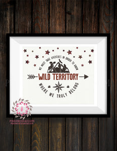 Wild Territory Arrow Moose Plaid Adventure Rustic Woodland Nursery Baby Boy Room Prints Printable Print Wall Art Decor